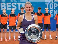 Amstelveen, Netherlands, 10 Juli, 2021, National Tennis Center, NTC, Amstelveen Womans Open, Singles final:   winners trophy to Quirine Lemoine (NED)<br /> Photo: Henk Koster/tennisimages.com