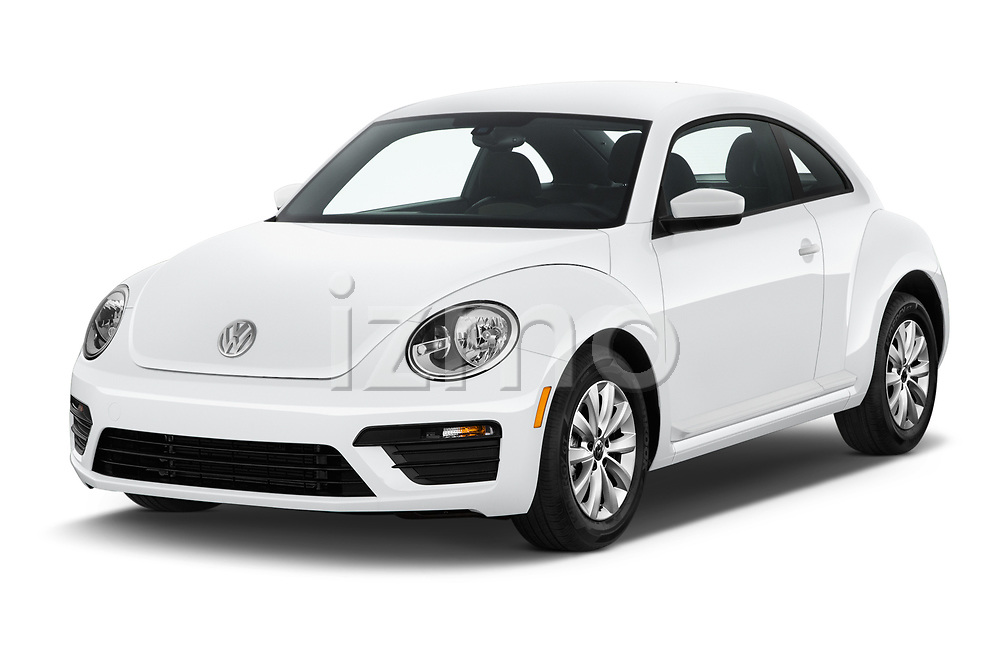 2019 Volkswagen Beetle S 5 Door Hatchback angular front stock photos of front three quarter view