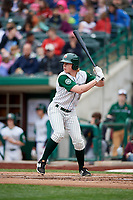 Fort Wayne TinCaps center fielder Jack Suwinski (2) at bat during a game against the Wisconsin Timber Rattlers on May 10, 2017 at Parkview Field in Fort Wayne, Indiana.  Fort Wayne defeated Wisconsin 3-2.  (Mike Janes/Four Seam Images)