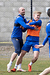 St Johnstone Training....30.04.21<br />Chris kane and Ali McCann pictured during training at McDiarmid Park ahead of tomorrows game at Hibs.<br />Picture by Graeme Hart.<br />Copyright Perthshire Picture Agency<br />Tel: 01738 623350  Mobile: 07990 594431
