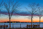 View of Pleasure Bay, South Boston, Massachusetts, USA