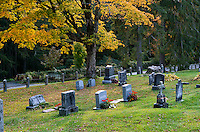 Autumn cemetery, Lenox, Massachusetts, USA