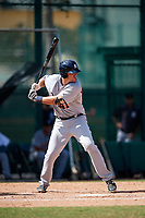 Detroit Tigers Ryan Karstetter (41) at bat during an Instructional League game against the Atlanta Braves on October 10, 2017 at the ESPN Wide World of Sports Complex in Orlando, Florida.  (Mike Janes/Four Seam Images)