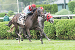 August 29 2020: Bye Bye Melvin #2, with jockey Manny Franco aboard holds off Don Juan Kitten #5 ridden by jockey Kendrick Carmouche to win the Grade 3 Saranac Stakes at Saratoga Race Course in Saratoga Springs, N.Y. Rob Simmons/Eclipse Sportswire/CSM