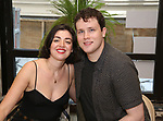 Barrett Wilbert Weed and Grey Henson attend the 'Mean Girls' Original Broadway Cast Linyl Release at the Herald Square Urban Outfitters' on August 28, 2018 in New York City.