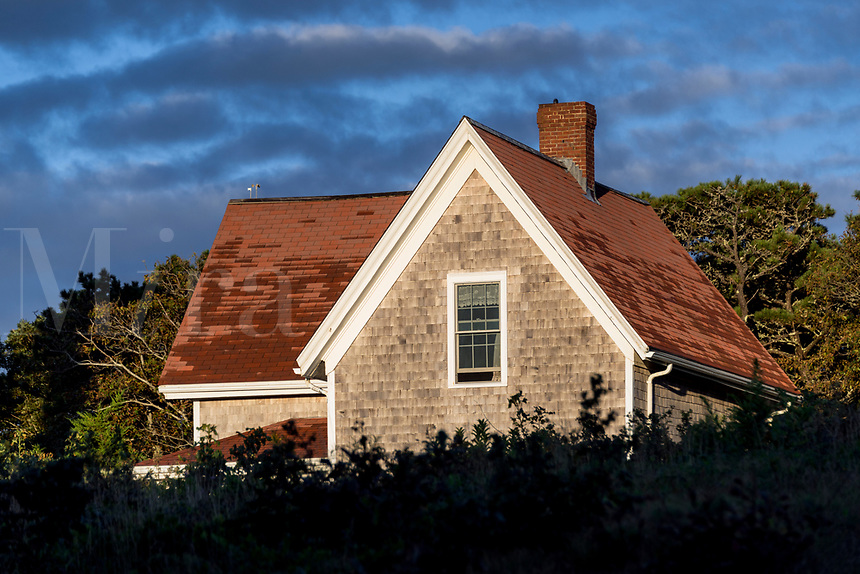 Nauset Lighthouse keepers house, Eastham, Cape Cod, Massachusetts, USA.
