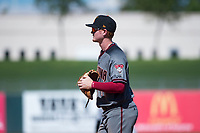 Salt River Rafters first baseman Pavin Smith (44), of the Arizona Diamondbacks organization, during an Arizona Fall League game against the Surprise Saguaros on October 9, 2018 at Surprise Stadium in Surprise, Arizona. The Rafters defeated the Saguaros 10-8. (Zachary Lucy/Four Seam Images)