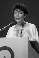 Francine Lalonde candidate , Parti Quebecois leadership race, September 27, 1985.