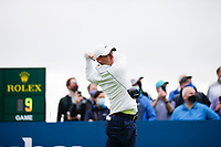 4th July 2021; Mount Juliet Golf Club, Kilkenny, Ireland; Dubai Duty Free Irish Open Golf, Day Four; Rory Mcilroy of Northern Ireland tees off on the 1st hole in his final round