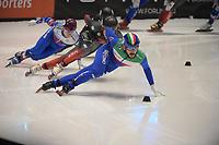 SPEEDSKATING: DORDRECHT: 06-03-2021, ISU World Short Track Speedskating Championships, SF 5000m Men, Yuri Confortola (ITA), ©photo Martin de Jong