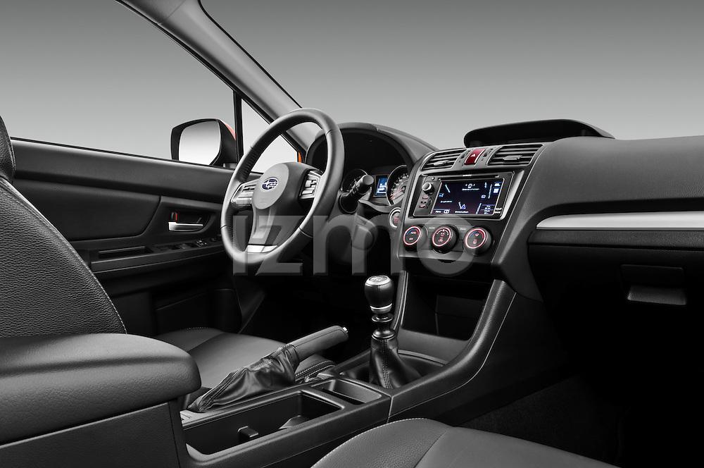 Passenger side dashboard view of a 2012 Subaru XV Executive SUV