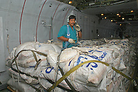 C-130 Hercules aircraft from United nations World Food program, WFP, from the Lokichoggio air base in Kenya. WFP dropped food over South Sudan during the civil war.