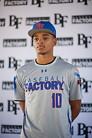 Robbie Tillman (10) of Columbus High School in Columbus, Georgia during the Baseball Factory All-America Pre-Season Tournament, powered by Under Armour, on January 12, 2018 at Sloan Park Complex in Mesa, Arizona.  (Zachary Lucy/Four Seam Images)
