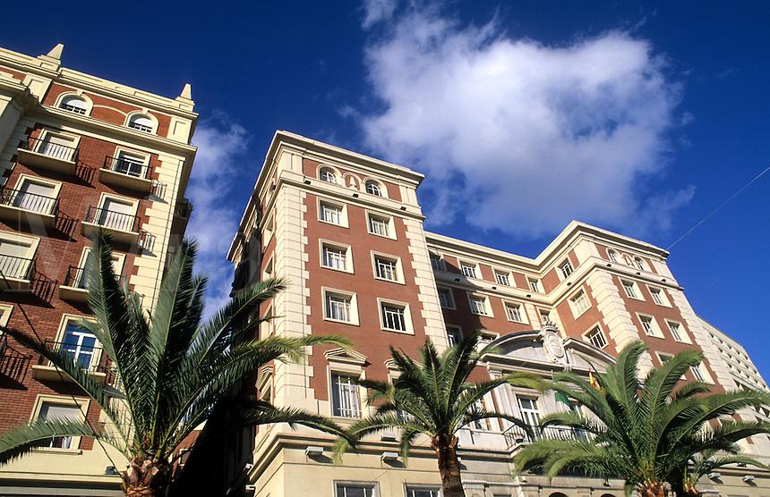 Costa del Sol architecture in city of Malaga, Spain