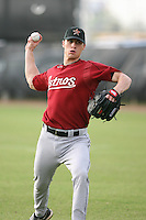 March 16th 2008:  Jordan Powell of the Houston Astros minor league system during Spring Training at Osceola County Complex in Kissimmee, FL.  Photo by:  Mike Janes/Four Seam Images