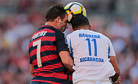 Cleveland, OH - Saturday July 15, 2017: Chris Pontius, Juan Barrera during a 2017 Gold Cup match between the men's national teams of the United States (USA) and Nicaragua (NCA) at FirstEnergy Stadium.