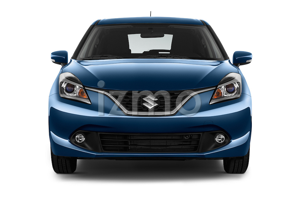 Car photography straight front view of a 2016 Suzuki Baleno Skycruise 2 Door Convertible Front View