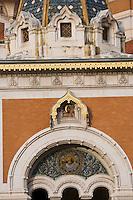 Europe/France/Provence-Alpes-Côte d'Azur/06/Alpes-Maritimes/Nice: La Cathédrale orthodoxe russe, St-Nicolas- détail-  XIX éme siècle