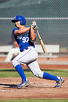 Kansas City Royals minor league infielder Rainer Bello #97 during an instructional league game against the San Francisco Giants at the Giants Baseball Complex on October 18, 2012 in Scottsdale, Arizona. (Mike Janes/Four Seam Images)