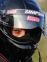 Jun. 17, 2011; Bristol, TN, USA: NHRA pro mod driver Leah Pruett-LeDuc during qualifying for the Thunder Valley Nationals at Bristol Dragway. Mandatory Credit: Mark J. Rebilas-