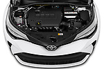 Car Stock 2020 Toyota C-HR LE 5 Door SUV Engine  high angle detail view