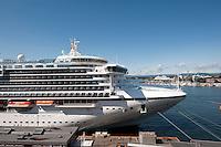 Norwegen, Oslo, Kreuzfahrtschiff im Hafen