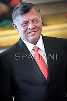 Jordan's king: Abdullah II ,Pope Francis receives Jordan's king: Abdullah II ,Abd Allah ibn Husayn,   Rania of Jordan during a private audience at the Vatican on August 29, 2013.