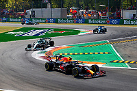 12th September, September 2021; Nationale di Monza, Monza, Italy; FIA Formula 1 Grand Prix of Italy, 11 Sergio Perez MEX, Red Bull Racing, F1 Grand Prix of Italy at Autodromo Nazionale Monza gets s 5-second peanlty to take him back to 5th at the finish