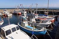 Hafen von Snogebæk auf der Insel Bornholm, Dänemark, Europa<br /> port of Snogebaek, Isle of Bornholm Denmark