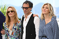 CANNES, FRANCE. July 10, 2021: Vanessa Paradis, Director Samuel Benchetrit & Valeria Bruni Tedeschi at the photocall for Love Songs for Tough Guys at the 74th Festival de Cannes.<br /> Picture: Paul Smith / Featureflash