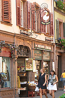 fine food shop wrought iron sign ribeauville alsace france