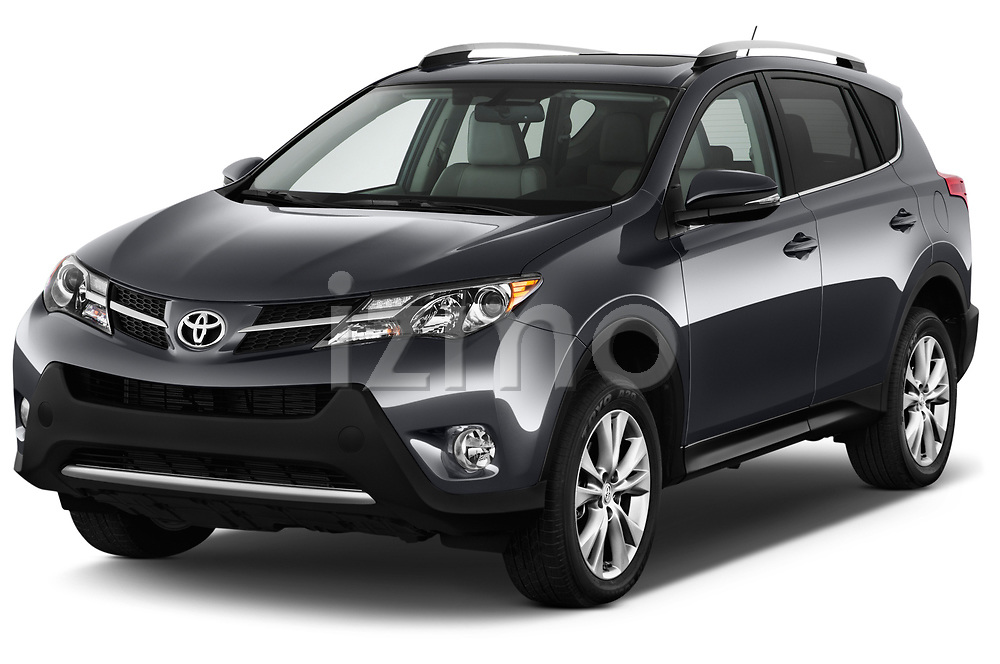 2013 Toyota rav4 limited Select Doors Door SUV angular front stock photos of front three quarter view