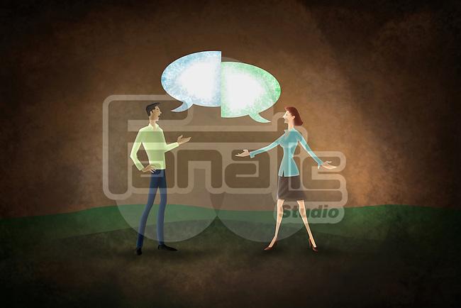 Illustrative image of couple fighting