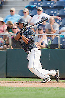 P.J. Jones (1) of the Everett Aquasox at bat during a game against the Hillsboro Hops at Everett Memorial Stadium in Everett, Washington on July 5, 2015.  Hillsboro defeated Everett 11-4. (Ronnie Allen/Four Seam Images)