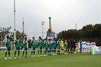 BOGOTÁ- COLOMBIA, 21-02-2021:La Equidad y Once Caldas en partido por la fecha 8 como parte de la Liga BetPlay DIMAYOR 2021 jugado en el estadio  Metropolitano de Techo de la ciudad de Bogotá /La Equidad and Once Caldas in match for the date 8 as part of the BetPlay DIMAYOR League I 2021 played at  Metropolitano de Techo stadium in Bogota city. Photo: VizzorImage / Felipe Caicedo / Staff