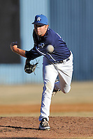 Asheville Tourists pitcher Brook Hart #31 delivers a pitch during the completion of a rain shortened game against the West Virginia Power at McCormick Field on April 12, 2013 in Asheville, North Carolina. The Power won the game 11-4. (Tony Farlow/Four Seam Images).