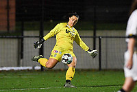 goalkeeper Sara Missair of Sporting Charleroi pictured during a female soccer game between Sporting Charleroi and RSC Anderlecht on the third matchday of the 2020 - 2021 season of Belgian Scooore Womens Super League , friday 2 nd of October 2020  in Marcinelle , Belgium . PHOTO SPORTPIX.BE | SPP | DAVID CATRY