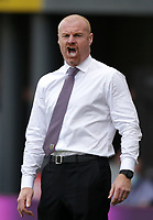 29th August 2021; Turf Moor, Burnley, Lancashire, England; Premier League football, Burnley versus Leeds United: Burnley manager Sean Dyche  shouts instructions to his players
