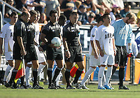 Anthony Ampaipaitakwong #10 and David Meves #24 of the University of Akron during the 2010 College Cup final against the University of Louisville at Harder Stadium, on December 12 2010, in Santa Barbara, California. Akron champions, 1-0.