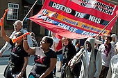 Southall march and rally in protest at proposals to close the A&E departments of Ealing and three other north-west London hospitals.