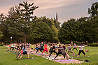 August 20, 2016; McDonald Center for Student Well-Being & RecSports Wellness Run/Walk and Yoga on South Quad, part of Welcome Weekend 2016. (Photo by Matt Cashore/University of Notre Dame)