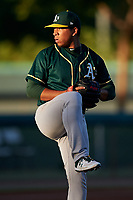 AZL Athletics Green starting pitcher Dennis Herrera (32) during an Arizona League game against the AZL Dodgers Lasorda at Camelback Ranch on June 19, 2019 in Glendale, Arizona. AZL Dodgers Lasorda defeated AZL Athletics Green 9-5. (Zachary Lucy/Four Seam Images)