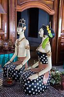 Yogyakarta, Java, Indonesia.  Statues Representing Javanese Bride and Groom.