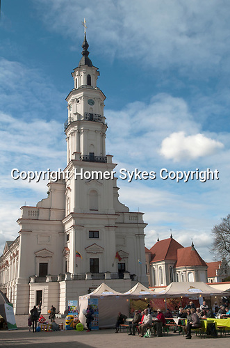 Kaunas Lithuania The Old Town Hall  in Town Hall Square in the olf Town district  Baltic State 2017 2010s,