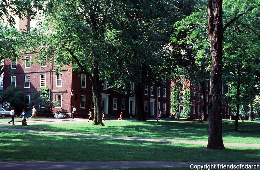 Cambridge:  Harvard Yard--looking northeast.  Photo '88.