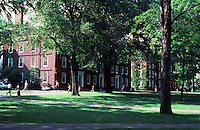 Cambridge:  Harvard Yard--looking northeast.  Photo '88.