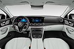 Stock photo of straight dashboard view of 2022 Mercedes Benz CLS-Coupe AMG-Line 4 Door Sedan Dashboard