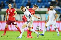 6th August 2020, Basel, Switzerland. UEFA National League football, Switzerland versus Germany; Toni Kroos (Ger) challenges Michel Aebischer (sui)