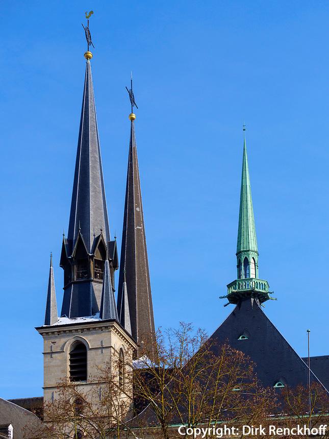 gotische Kathedrale Notre Dame, Luxemburg-City, Luxemburg, Europa, UNESCO-Weltkulturerbe<br /> Gothic Cathedral Notre Dame , Luxembourg City, Europe, UNESCO Heritage Site