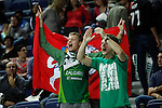 Zalgiris Kaunas´s supporters during Euroleague basketball match in Madrid, Spain. October 17, 2014. (ALTERPHOTOS/Victor Blanco)